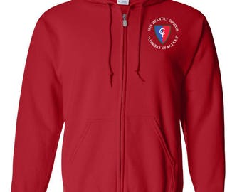 38th Infantry Division Embroidered Hooded Sweatshirt w/ Zipper-7438