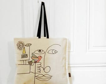"""Tote Bag """"and if you loved..."""" #1"""