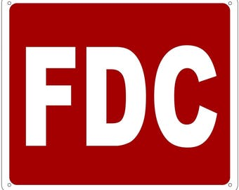 FDC SIGN - (Aluminium Reflective , RED 10x12)