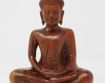 Small Khmer (Cambodian) Teakwood Buddha