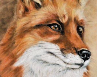 Fox Print - British Wildlife - Woodland Animal - Fox Gift - Fox Wall Art - Fox Picture - Home Decor - Animal Print - Fox Artwork - Fox Art