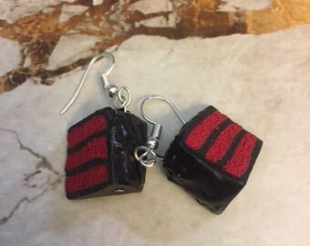 Red Velvet Cake Polymer Clay Earrings