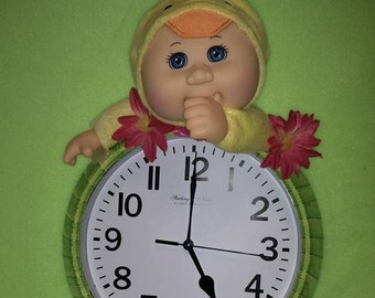 Cabbage Patch Cutie Duck Clock