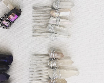 Crystal Quartz Hair Comb