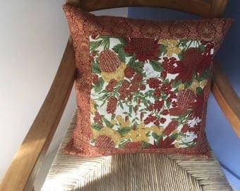 Australian wildflowers cushion cover.