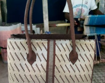 Authentic handmade satchel in the Manjaku style.