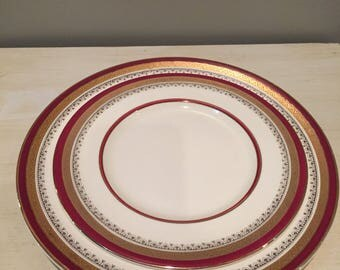 "Myotts Staffordshire Vintage Plates, ""The Crowning"" Dinner and Salad Plates"