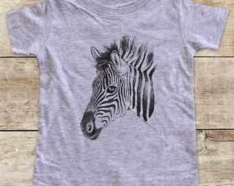 Zebra profile graphic Zoo animal wild kingdom Shirt - Baby bodysuit Toddler youth Shirt cute birthday baby shower gift