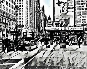 "NYC - 14"" x 11"" Canvas"