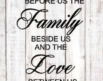 Bless the food before us, the family beside us, and the love between us Amen SVG DXF File / Silhouette / Cricut / Vinyl Cutter