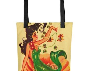 Vintage Mermaid - Tote Bag