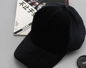 black velvet baseball cap - black velvet - pet zwart fluweel - one size fits all