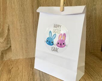Handmade easter gift bags etsy 6 personalised easter gift bags party favour bags easter egg hunt bags personalised gift bags for negle Choice Image