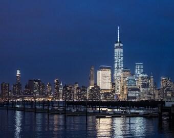 Cold NY Skyline at Night