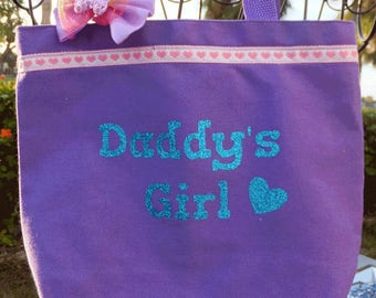 Daddy's Girl Girls Totebag