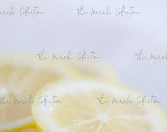 Sliced Lemon Detail Stock Photo/ Images for health, wellness & fitness Bloggers, Coaches and Entrepreneurs