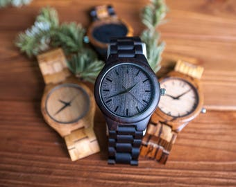 Wood watch engraved, Personalize wood watch,Wood watch,Wooden watch,Mens watch,Brown handmade watch,Wooden watches for men,Wooden watch gift