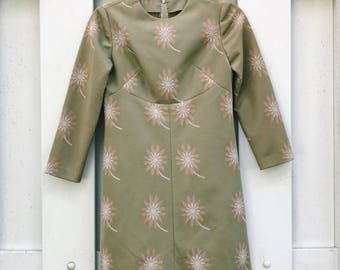 Olive and Gold 70's Dress