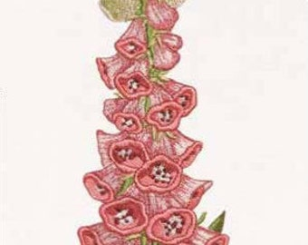 Machine embroidery designs Bell pink