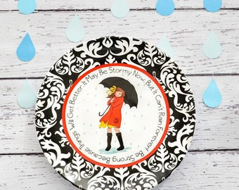 Weather The Storm Ceramic Gift Plate