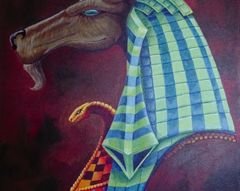 Limited Edition Canvas Print of the Ancient Egyptian God Anubis