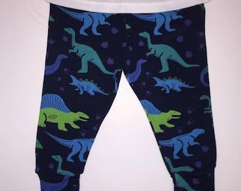 Navy Dinosaur Leggings