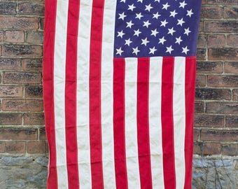 Post 1960s Tattered & Distressed  50-Star American Flag