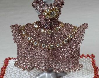 Bead sparkly dress ornament