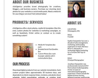 """One-Page Media Kit Template 