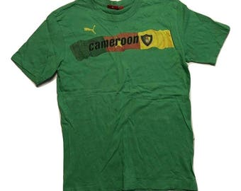 Puma T shirt 90s Vintage cameroon - Sz S