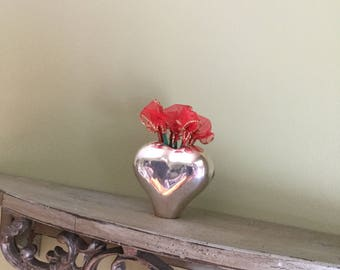 SVEND JENSEN HEART shaped silvered vase