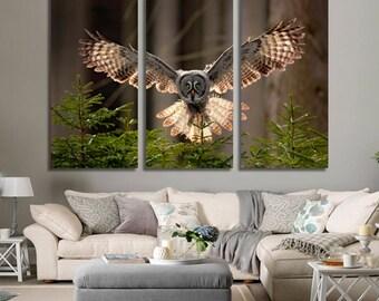 Owl Wall Art Owl Canvas Print Owl Large Wall Decor Owl Canvas Art Owl Painting Owl Poster Print Owl Home Decor Gift for She Artwork