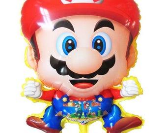 "24"" Super Mario Balloon, Kids Birthday Party Decor"