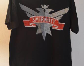 Vintage // Smirnoff // Vodka // T-Shirt // Vodka Tee // Fun Water // Black // Cotton // Medium
