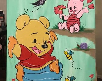 Winne The Pooh and Piglet print