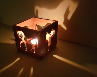 Horse Candle Box