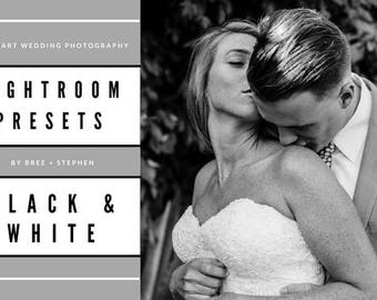 BS Black + White Lightroom Preset Package (3 Fine Art Wedding Photography Presets for Lightroom cc)