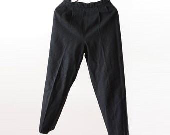 Japanese Vintage 50s Wool Slacks Pants Black Bespoke Tailor スラックス ジャパンヴィンテージ 50年代 ウール パンツ 黒
