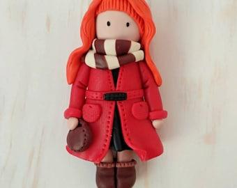 Handmade Brooch Doll, Gift Brooch Doll, Breastpin Brooch, Anime Brooch, Anime Cosplay Brooch, Anime Pin, Gift For Anime Fan, Anime Gift