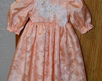 """satin & lace doll dress fits American Girl or 18"""" doll"""