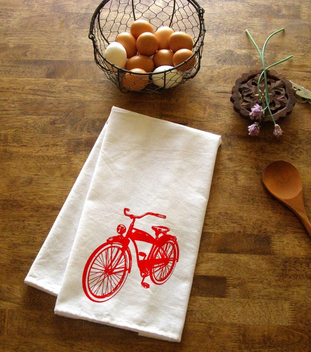 Bicycle Kitchen: Bicycle Kitchen Towel Orange Tea Towels Bikes CUTE Screen