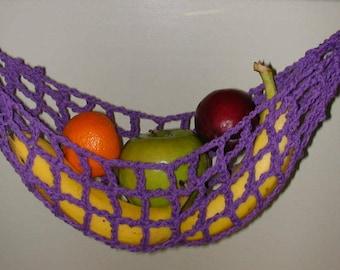 banana hammock fruit hanger holder   purple banana hammock mesh produce bags banana hanger produce  rh   etsy