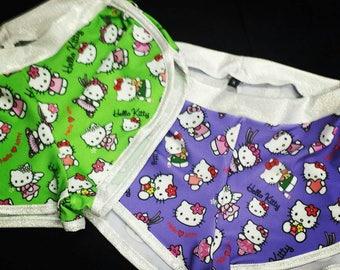 Hello Kitty print Sassmasters, made to order!