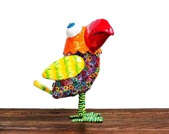 Bird sculpture, Bird decorating, Bird decor, original design, Bird figure, sculpture, metal sculpture, Israeli art, Bird art, Bird, Art