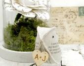 RESERVED for C. 4th Wedding Anniversary Poem Love Bird by Cotton Bird Designs