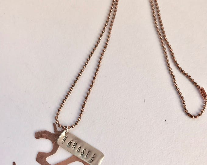 Om Necklace *Namaste Necklace *Yoga Necklace *Lotus Necklace *Yoga Jewelry *Boho Necklace *Om Charm Necklace