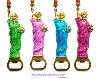 Glittered Statue Of Liberty Bottle Openers 4 To Choose From On SALE