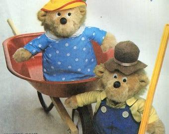"McCall's 9325 Mama & Papa Berenstain Bears 13"" Stuffed Toy Pattern McCall's 753"