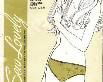 "Sew Lovely P501 LADIES BIKINI Sizes 4, 5, 6, 7, 8, 9 Hip 34"" - 50"" 1970 Lingerie Pattern by Laverne Devereaux"