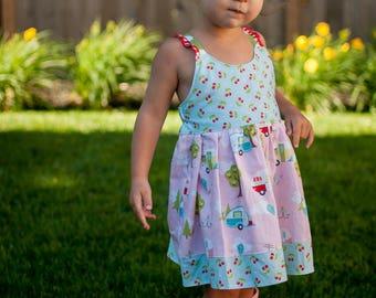 Baby Camper Dress - Toddler Camper Dress - Baby Dress - Toddler Dress - Baby Summer Dress - Baby Sundress - Toddler Summer Dress - Toddler